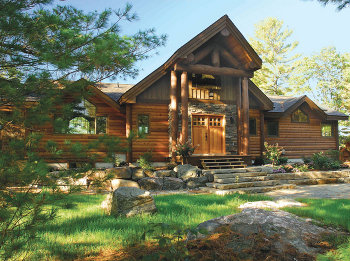 The Kawarthan   This Custom Home Design Combines The Best Of Log Homes And  Post And Beam House Plans.